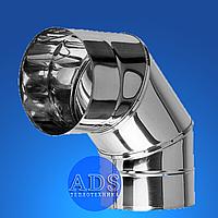 Колено 90° дымохода из нержавеющей стали PREMIUM MONO STALAR AISI 321, 1.0 мм ДЫМОХОДЫ АДС