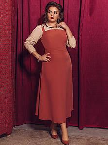 Женский комплект - сарафан и блузка