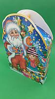 Новогодние коробки для конфет №226(Снеговики с Сантой) на 700грам (25 шт), фото 1