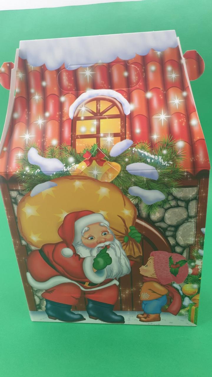 """Новогодняя картонная коробка для конфет, """"Каменый Дом"""", на 600грамм, (25 шт)"""