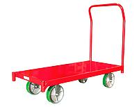 Тележка грузовая платформенный 4ZH93 со съемной ручкой, нагрузка 1800 кг, размеры 1220x610 мм, колеса Ф200 мм