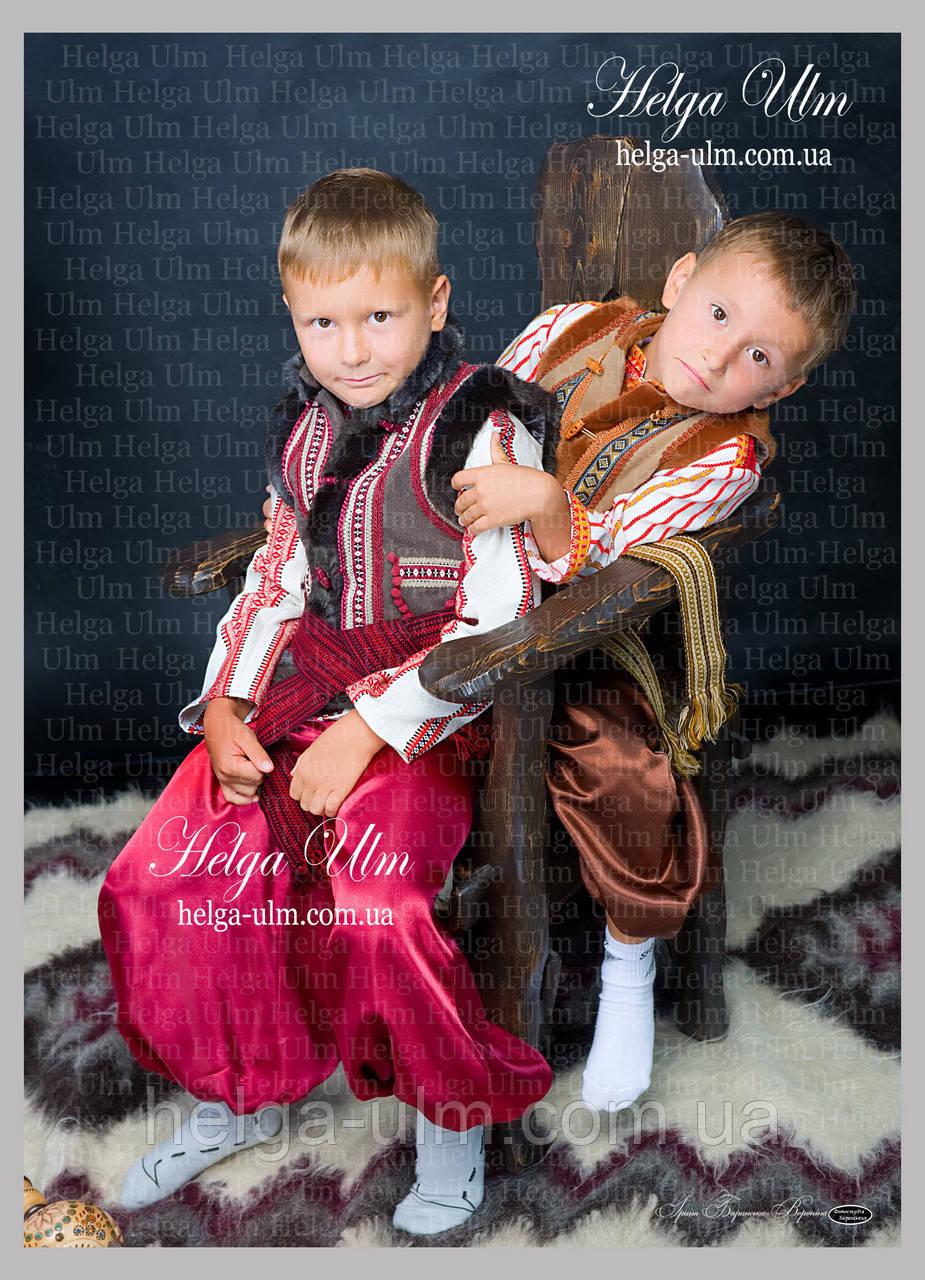 """Кептарик """"Брати"""" (беж) для хлопчика на замовлення 128"""