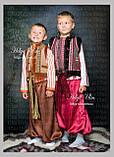 """Кептарик """"Брати"""" (беж) для хлопчика на замовлення 128, фото 3"""