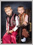 """Кептарик """"Брати"""" (беж) для хлопчика на замовлення 128, фото 4"""