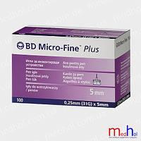 Иголки для инсулиновых ручек микрофайн 5 mm №100