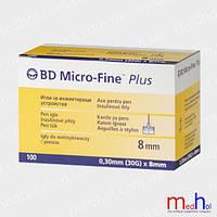 Иглы для ручек BD Micro-Fine Plus 8 mm №100