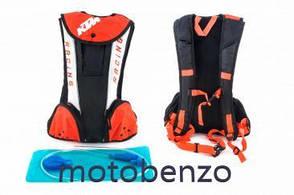 Рюкзак чорно-біло-помаранчевий, звужений