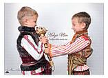 """Кептарик """"Брати"""" (беж) для хлопчика на замовлення 128, фото 6"""