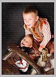 """Кептарик """"Брати"""" (беж) для хлопчика на замовлення 128, фото 8"""