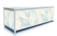 Экран под ванну торцевой 70 см, голубой мрамор, пластиковый каркас