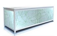 Экран под ванну торцевой 70 см, зеленая акварель, пластиковый каркас