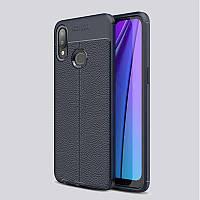 Чехол Auto Focus для Samsung Galaxy A10s (A107) силикон Original Soft Touch темно-синий