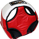 Боксерский шлем для соревнований RDX Red L, фото 4