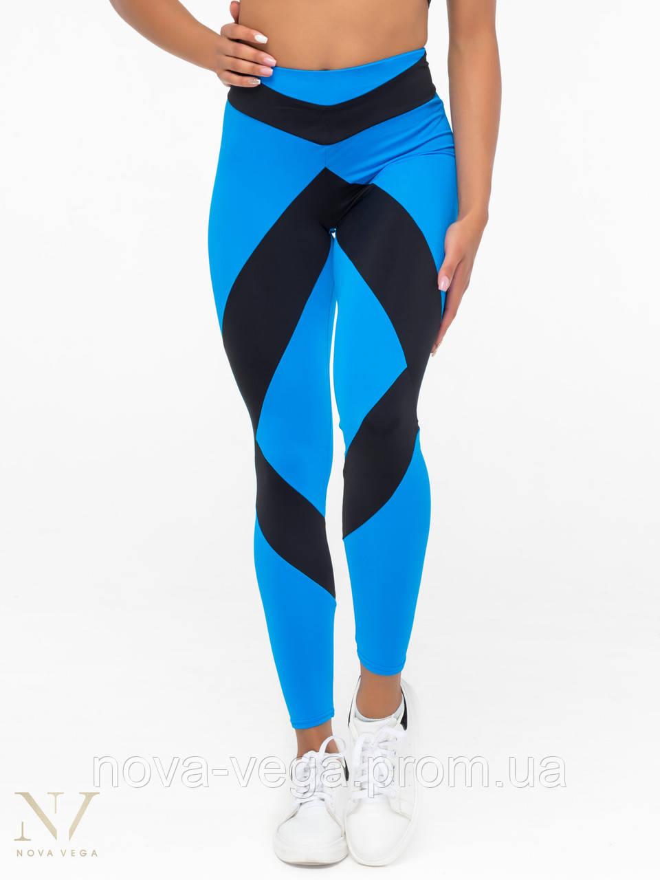 Тренировочные Женские Лосины Nova Vega Cotis Black&Blue