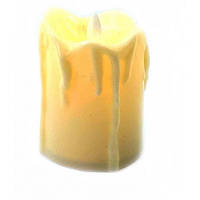 Свеча с Led подсветкой (5х3,5х3,5см) ( 32927)