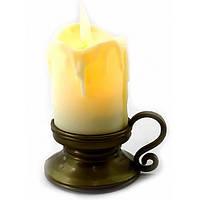 Свеча с Led подсветкой с движущимся пламенем (9х7х5,5см) ( 32856)
