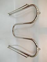 Полотенцесушитель «Змеевик» диаметром трубы 25 мм, размером 60*60 с декором