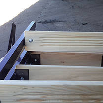 Лестница на чердак Мини 80*60 см метал/дерево (Украина), фото 2