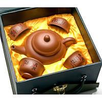 Сервиз глиняный (Чайник - 150мл чашка 30 мл.)(17х17,5х9,5 см) ( 26546)