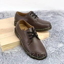 Чоловічі класичні туфлі Dr Martens 1461 Brown (коричневий)