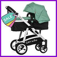 Детская коляска 2в1 универсальная комбинированная Carrello Fortuna коляска трансформер зеленая, візок дитячий