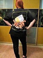 Модная женская брендовая футболка Офф Вайт с принтом на спине .