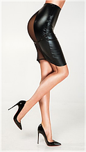 Эротическое белье Лаковая юбка с сеткой Женский ролевой костюм Эротический костюм