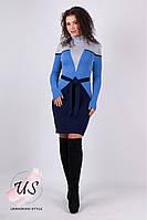 Яркое женское вязаное платье с геометрическим рисунком. Цвета!