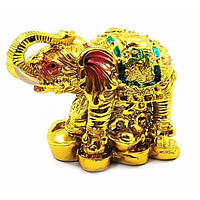 Слон каменная крошка золото (6х8,5х4,5 см) ( 32865)