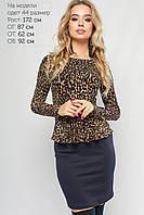 Женское леопардовое платье Бритни Lipar Синее Батал