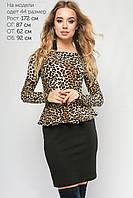 Женское леопардовое платье Бритни Lipar Черное Батал