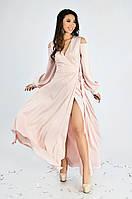 Женское вечернее платье в пол Lipar Розовое