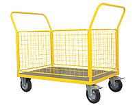 Тележка платформенная с бортами Noblelift TCZ50D, нагрузка 500 кг, платформа 1200x800 мм, колеса Ф200 мм