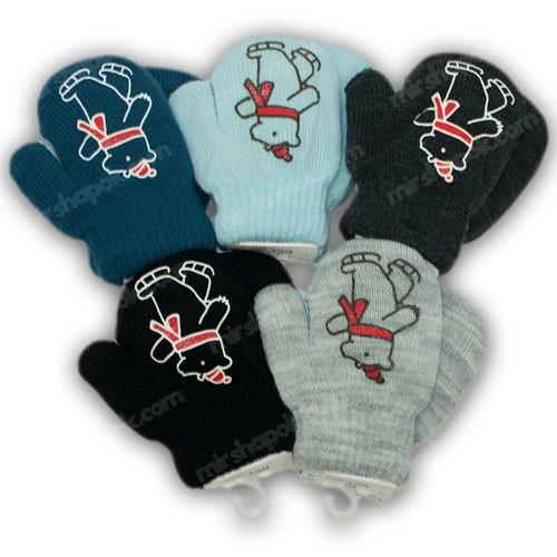 ОПТ Детскиеварежки утепленные, для малышей, р. 10 (0-6 мес), производитель Польша (6шт/набор)
