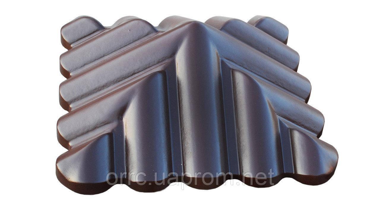 "Крышка на забор бетонная Мегалит ""Черепица"" 440х440х165 мм"