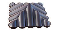 "Крышка на забор бетонная Мегалит ""Черепица"" 440х440х165 мм, фото 1"