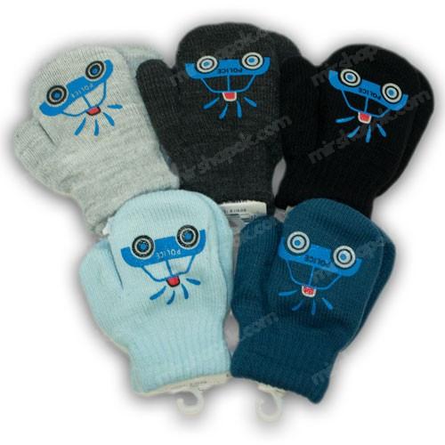 ОПТ Детскиеварежки утепленные, для малышей, р. 12 (1-2 года), производитель Польша (6шт/набор)
