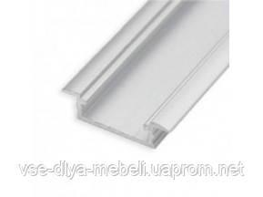 """Профиль """"LL-03"""" врезной L-2000мм для светодиодной ленты, алюминий (уп=80шт) (134300)"""