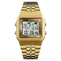 Skmei 1338 world золотисті класичні годинник, фото 1