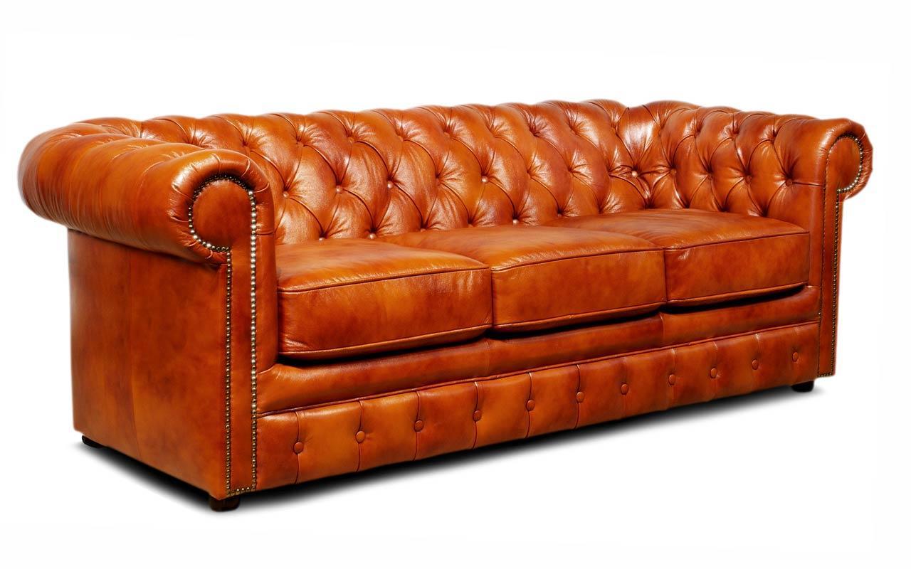 Кожаный диван Чикаго Честер, не раскладной