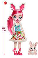 Большая кукла Enchantimals Бри Кроля с питомцем  Bree Bunny Оригинал США