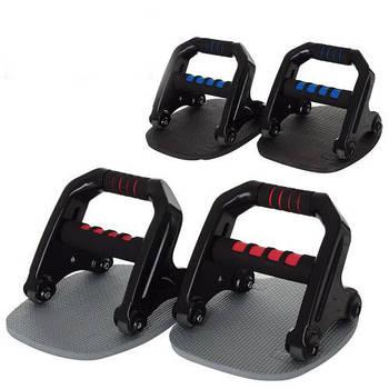 Тренажер 3 в 1 ABS Roller, упоры, эспандер ,колесо для преса (MS 2743)