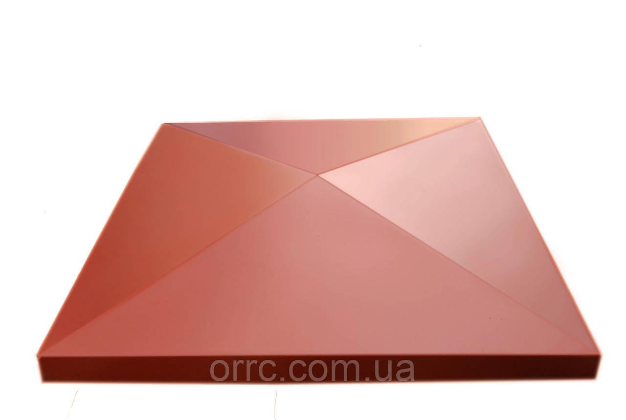 """Крышка на забор бетонная Мегалит """"Пирамида"""" 300x300x60 мм"""