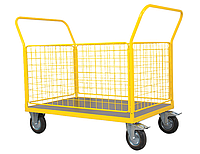 Тележка платформенная с бортами Noblelift TCZ50C, нагрузка 500 кг, платформа 1000x700 мм, колеса Ф200 мм