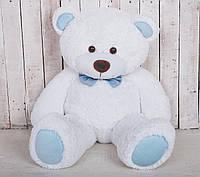 Мишка плюшевый Yarokuz Джон 110 см Белый с голубым, фото 1