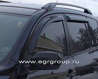 Дефлекторы боковых окон (ветровики) 4 части тёмные Toyota RAV 4 2006-2012