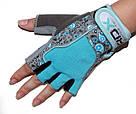 Перчатки для фитнеса женские RDX Blue S, фото 5