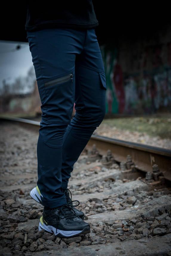 Теплые штаны карго синие Conqueror Intruder + подарок, фото 2