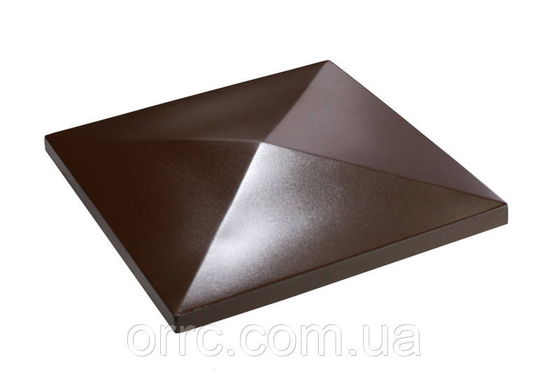 "Крышка на забор бетонная Мегалит ""Пирамида"" 385*385*60 мм"