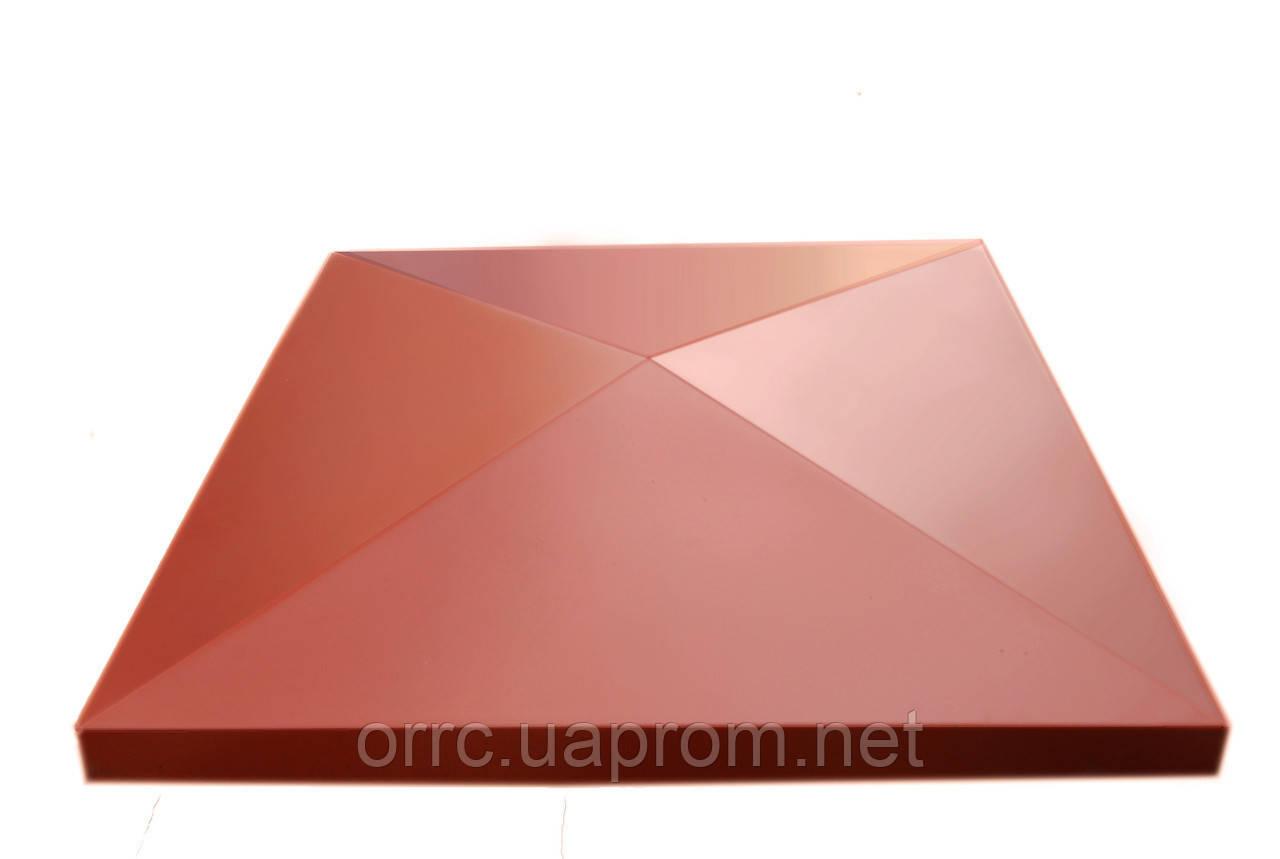"Крышка на забор бетонная Мегалит ""Пирамида"" 595*595*75 мм"